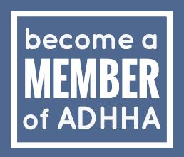 Become an ADHHA member