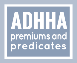 ADHHA premiums & predicates