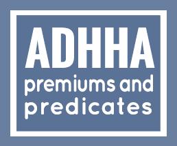 ADHHA premiums & predicates