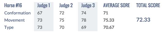 Score Keuring 2014 #16