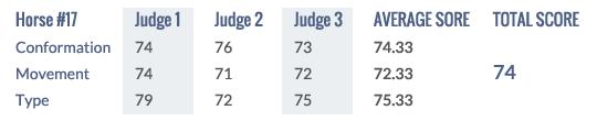 Scores Keuring 2014 # 17