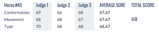 Scores Keuring 2014 #45