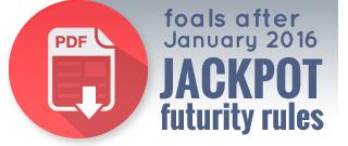 Foals after 2016 ADHHA Jackpot Futurity rules